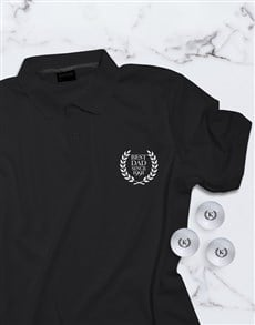 gifts: Personalised Best Dad Polo And Golf Ball Set!
