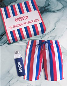 gifts: Personalised Breazies Striped Swim Shorts !