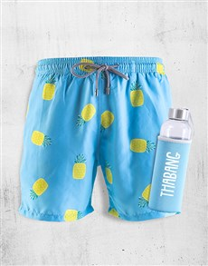 gifts: Personalised Breazies Pineapples Swim Shorts!
