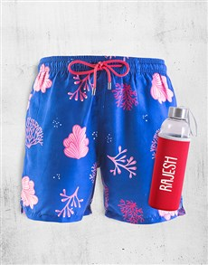 gifts: Personalised Breazies Coral Swim Shorts !