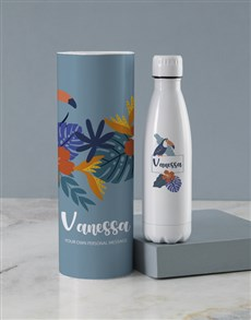gifts: Personalised Tropical Toucan Water Bottle Tube!