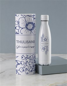 gifts: Personalised Blue Delft Water Bottle Tube!