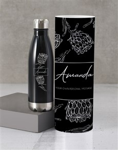 gifts: Personalised Protea Water Bottle Tube!
