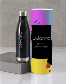 gifts: Personalised Abstract Water Bottle Tube!