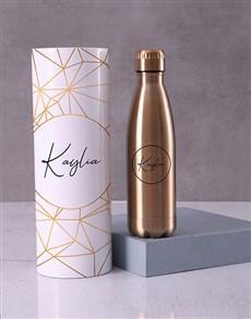 gifts: Personalised Metallic Water Bottle Tube!