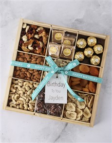 gifts: Personalised Birthday Nut Tray!