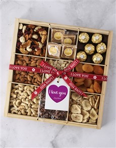 gifts: Personalised I Love You Nut Tray!