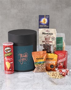gifts: Personalised Thank You Snack Hat Box !