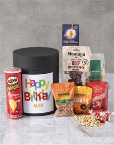 gifts: Personalised Birthday Snack Hat Box !