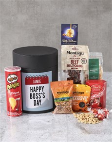 gifts: Personalised Boss Day Snack Hat Box !