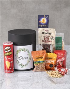 gifts: Personalised Wreath Name Snack Hat Box !
