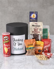 gifts: Personalised Thinking Of You Snack Hat Box !