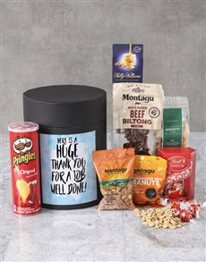 gifts: Personalised Job Well Done Snack Hat Box !