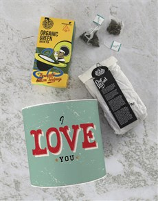 gifts: Personalised I Love You Tea Tin!