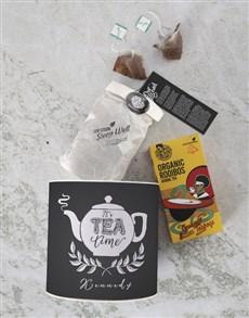 gifts: Personalised Tea Time Rooibos Tea Tin!