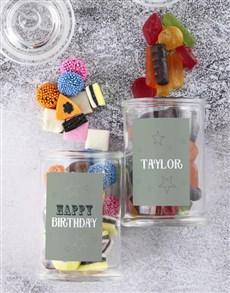 gifts: Personalised Happy Birthday Sweetie Jar!