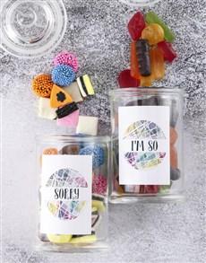 gifts: Personalised Sorry Sweetie Jar!