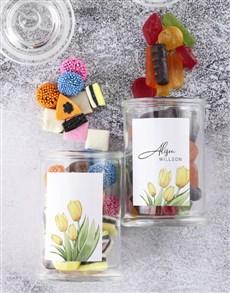 gifts: Personalised Floral Sweetie Jar!