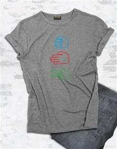 gifts: Rock Paper Scissors T Shirt!