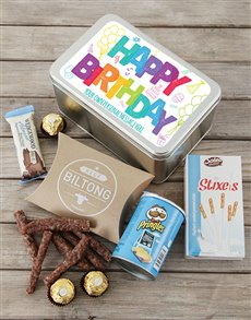 gifts: Happy Birthday Tin Personalised!