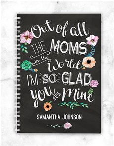 gifts: Personalised Glad You Are Mine Notebook!