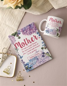 gifts: Personalised Mother Floral Notebook!