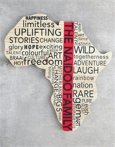 gifts: Personalised Family Africa Board!