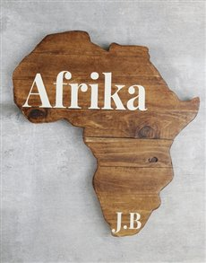 gifts: Personalised Initial Africa Board!