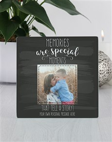 gifts: Personalised Memories Glass Tile Photo Frame!