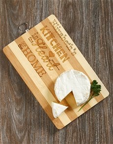 gifts: Personalised Heart Of The Home Chopping Board!