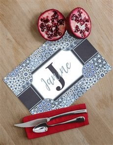 gifts: Personalised Initial Glass Chopping Board!