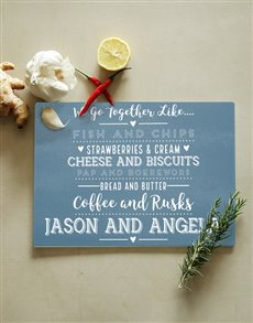 gifts: Personalised Go Together Glass Chopping Board!