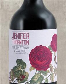 gifts: Personalised Rose Rage Wine!