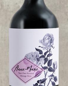 gifts: Personalised Purple Rose Wine!