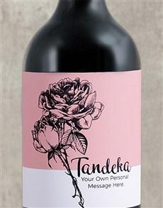 gifts: Personalised Rose Sketch Wine!