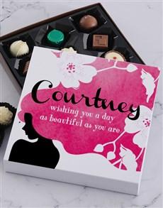 gifts: Personalised Beautiful Women Chocolate Tray!