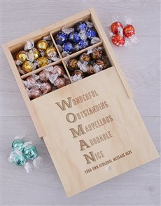 gifts: Personalised Woman Chocolate Treasure Box!