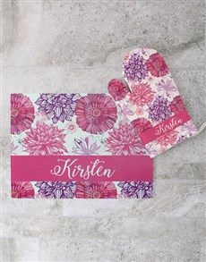 gifts: Floral Glass Chopping Board Personalised!