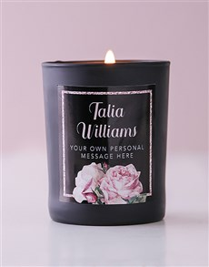 gifts: Personalised Rose Bliss Candle!