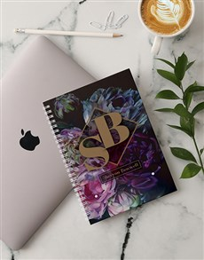gifts: Personalised Peony Notebook!