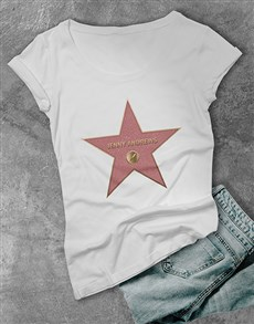 gifts: Personalised Hollywood Star T Shirt!