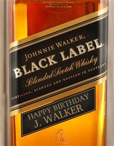 gifts: Personalised Johnnie Walker Black!