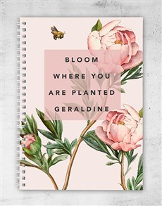 gifts: Personalised Bloom Where Planted Notebook!