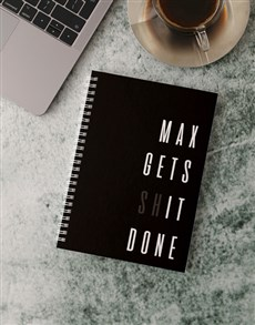 gifts: Personalised Get Done Notebook!