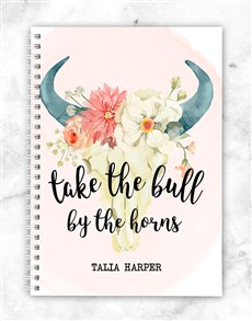 gifts: Personalised Bull Notebook!
