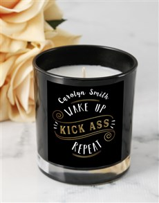 gifts: Personalised Kick Ass Candle!