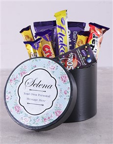 gifts: Personalised Rose Chocolate Hat Box!