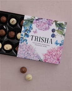 gifts: Personalised Pretty Florals Chocolate Tray!