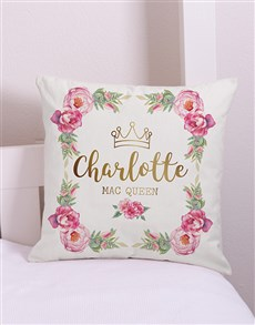 gifts: Personalised Princess Scatter Cushion!
