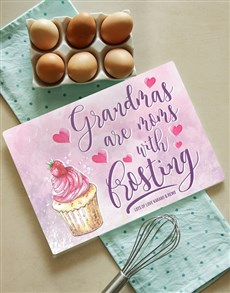 gifts: Personalised Grandma Frosting Glass Chopping Board!